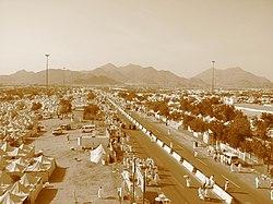Padang Arafah pada musim haji