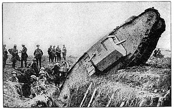 Failure of a tank to cross a trench