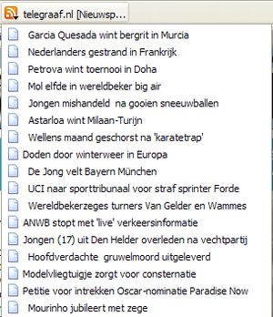 Nederlands: Firefox RSS lezen