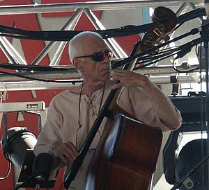 English: Jazz double-bassist Gary Peacock perf...