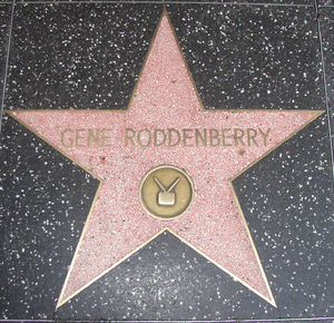 Roddenberry's star at 6683 Hollywood Blvd on H...