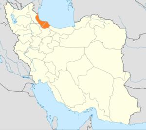 English: Locator map of Iran