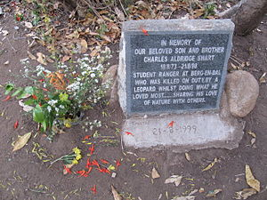 English: Memorial plaque of Charles Aldridge S...