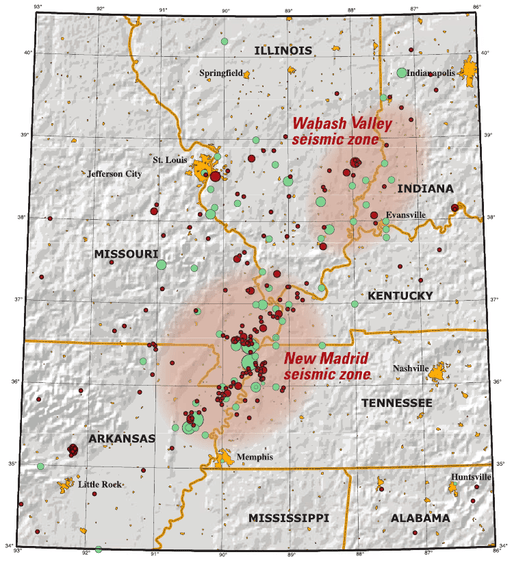 New Madrid and Wabash seizmic zones-USGS