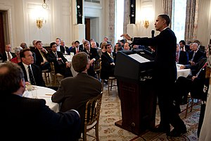 President Barack Obama answers questions from ...