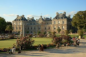 The palace of Luxembourg, in the Luxembourg ga...
