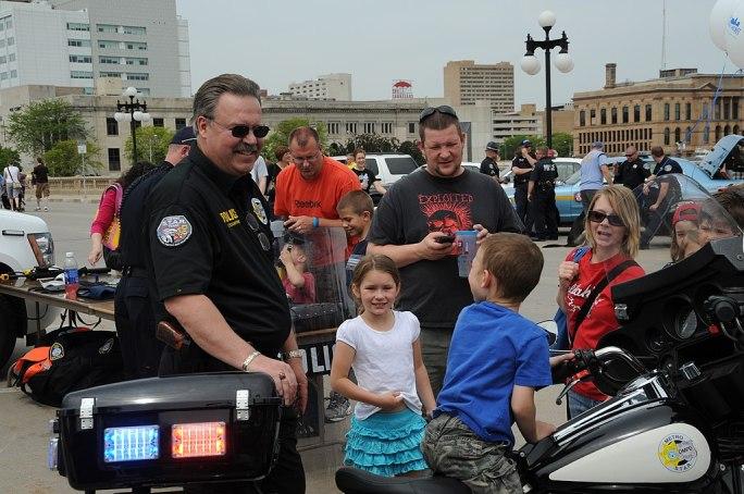 Police Week May 15, 2010 on Court Avenue Bridge, Des Moines, Iowa, USA-1