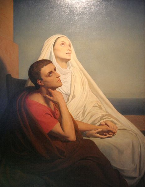 St Augustine and his mother, Monica