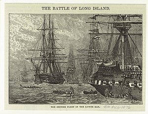 "English: ""The British fleet in the lower ..."
