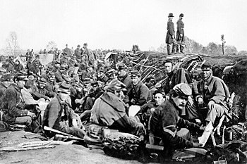 Photograph # B-157 Union Troops before Frederi...