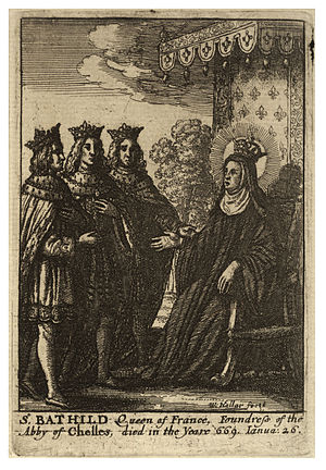 Wenceslas Hollar - St Bathilde