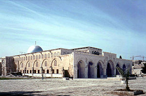 The Al-Aqsa Mosque built on Judaism's and Christianity's most sacred site of Solomon's Temple.
