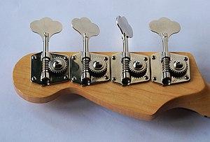 Bass guitar headstock
