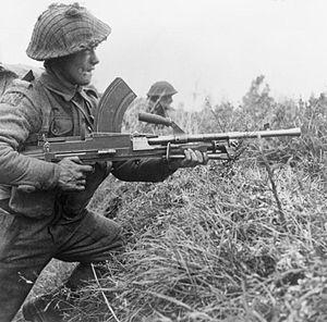 A Bren gunner of 8th Royal Scots at Moostdijk,...