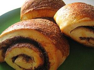 Cinnamon rolls for breakfast.