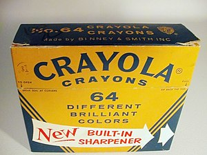 English: The first version of the Crayola No.6...