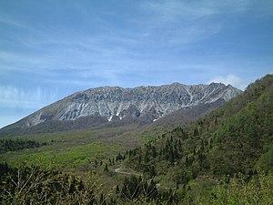 English: South wall of Mt. Daisen, Japan