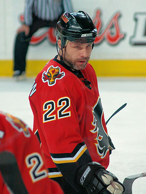 Daymond Langkow of the Calgary Flames
