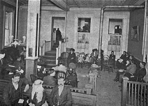 New Orleans: Waiting room in the old Eye, Ear,...