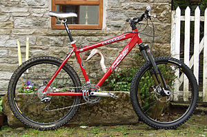 A hardtail mountain bike.