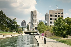 Central Canal and Indianapolis skyline