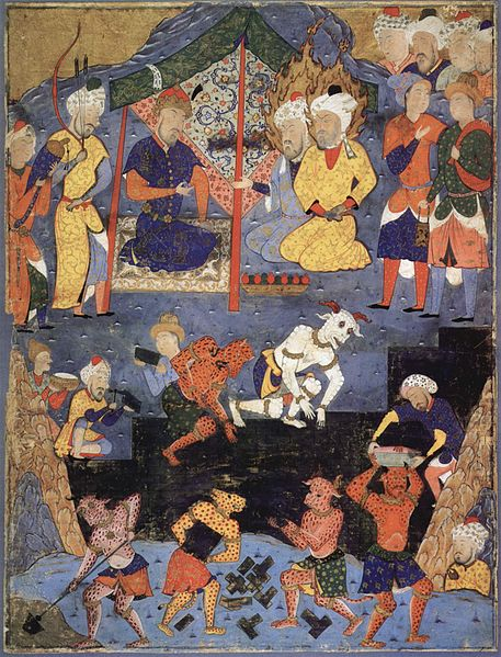 Iranischer Meister - Gog and Magog Iranian Persian Turkish Painting