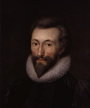 John Donne, by Isaac Oliver (died 1622). See s...