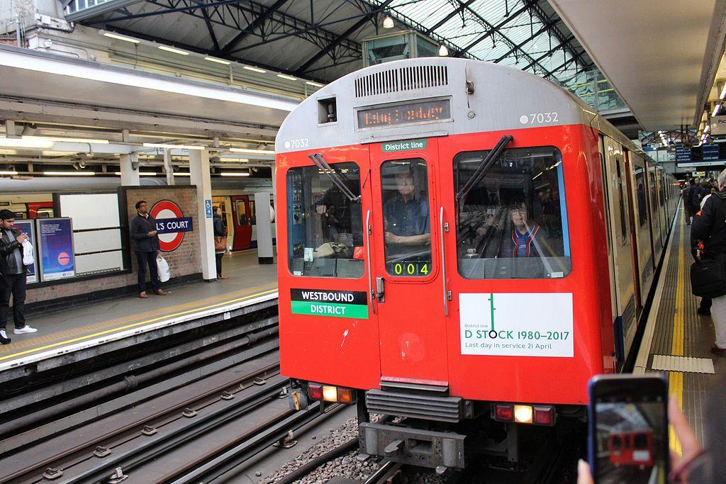File London Underground D Stock Train On Last Day Of
