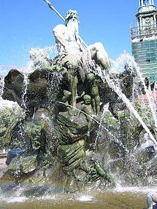 The Neptun brunnen fountain in Berlin