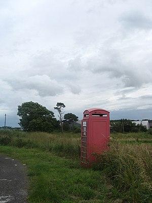 English: No calls today An old phone box at th...