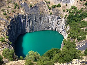 Diamond Mine in Kimberley, Africa