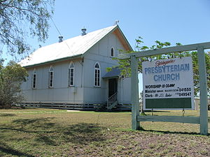 Presbyterian Church at Springsure, Queensland.