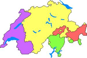 Language distribution in Switzerland ----- Fre...