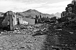 Afghanistan rubble