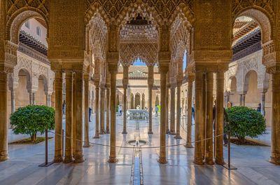 Alhambra Löwenhof mit Löwenbrunnen 2014