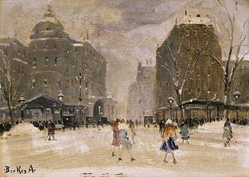 Antal Berkes: Budapest in winter