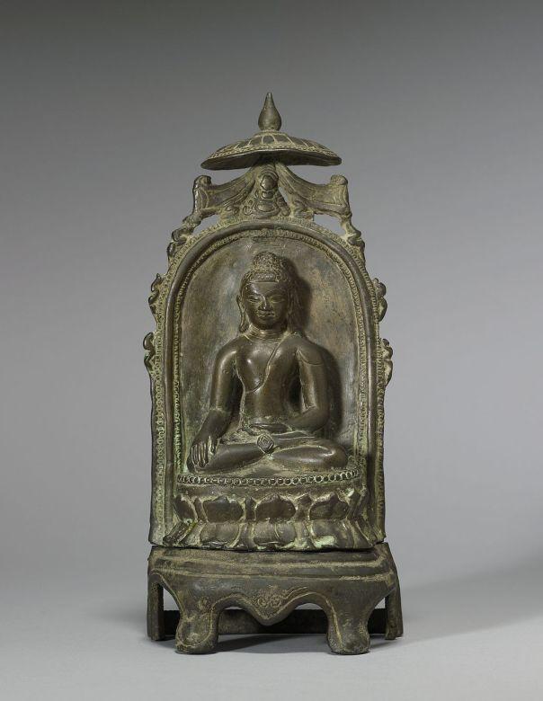Bangladeshi - Enthroned Seated Buddha - Walters 542713