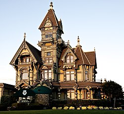 Queen Anne style architecture   Revolvy The Carson Mansion  located in Eureka  California  is widely considered to  be one of the highest executions of American Queen Anne style