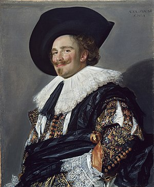 Laughing Cavalier, 1624, canvas, relined, (H) ...