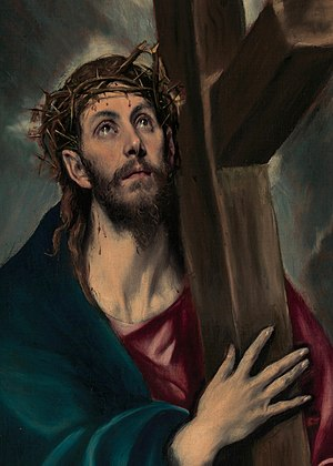 Jesus Carrying the Cross. Illustration by El G...