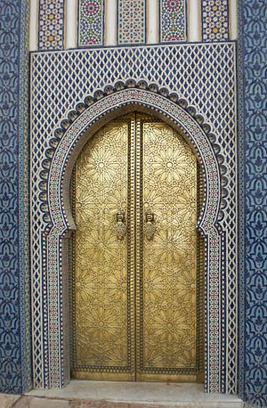 English: A door in Morocco in 2010.