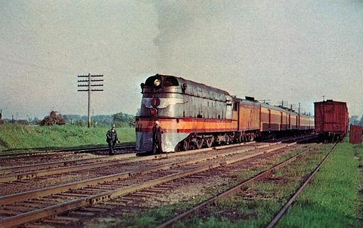 Hiawatha streamlined steam locomotive 1951