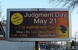 Sign for Family Radio's prediction of the end ...