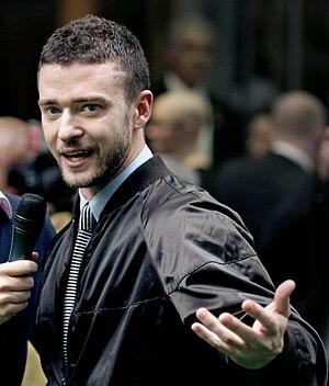 English: Justin Timberlake at the Shrek the Th...