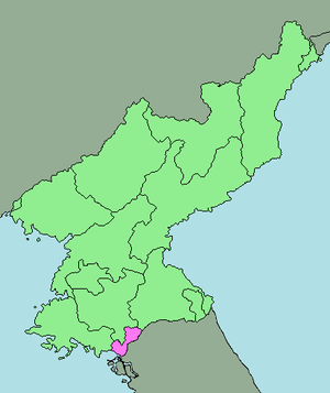 English: Area map of Kaesong Industrial Region...