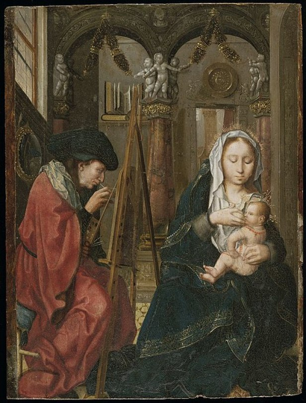 Master of the Holy Blood - Saint Luke painting the Virgin