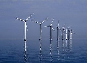 Middelgrunden offshore wind farm (40 MW) obser...