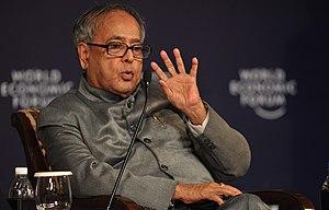 English: Minister of Finance Pranab Mukherjee ...