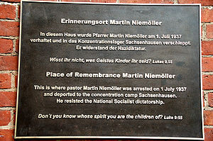 image: RemembranceMartinNiemoeller.Berlin-Dahl...