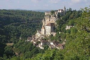 Vue de Rocamadour.